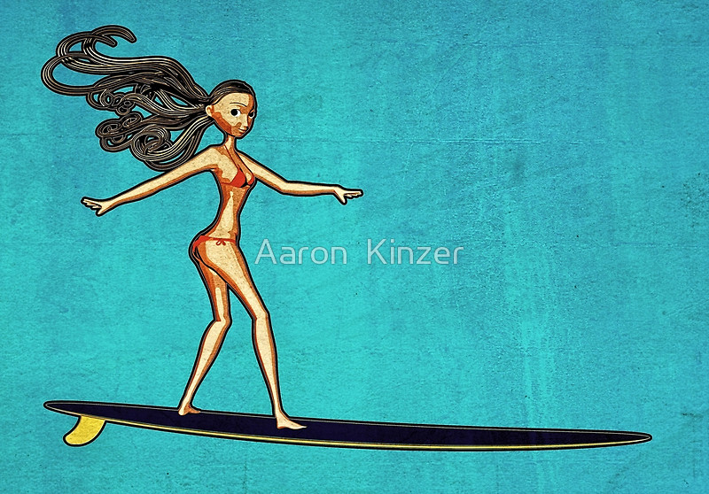 Girl on Longboard by Azza-Ku