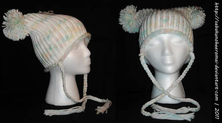 Knitted Pale Rainbow Hat