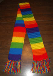 Rainbow Scarf Commission