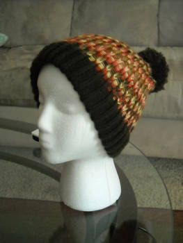 Knitted Autumn Style Cuffed Hat