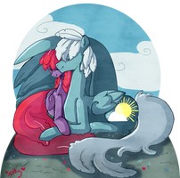 Art Trade: Cotton and Cloud Skipper by Sellyinwonderland