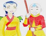 Hay Lin and Aang