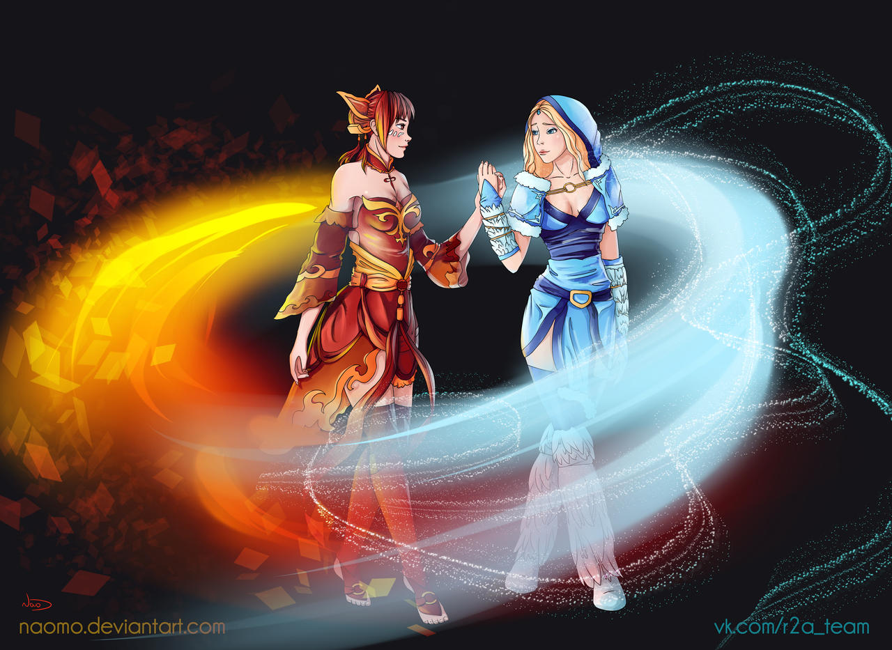 Lina and Crystal Maiden by Naomo