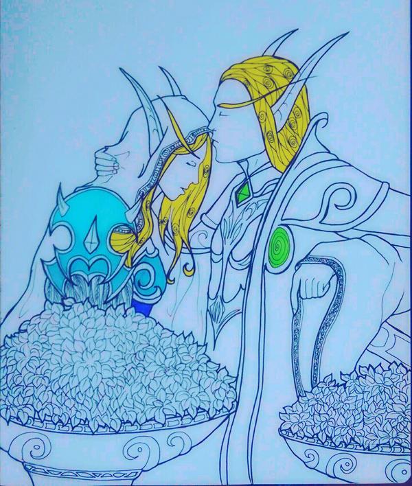 Sylvanas and Kaelthas by Naomo