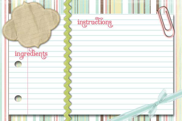 Pastel Recipe card by vintagecupcake on DeviantArt – Sample Recipe Card