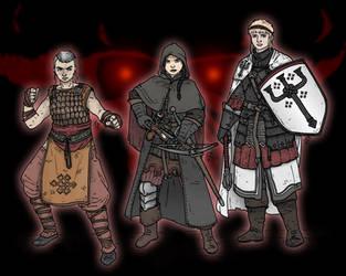 Diablo 3 - Three Ladies against Hell by Konquistador