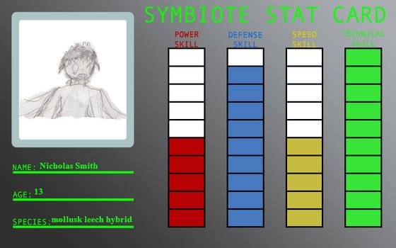 Nicholas's stat card