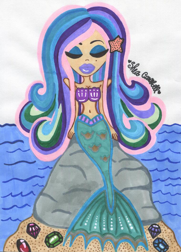 Mystic Mermaid Lenalee by GlitterFairy92