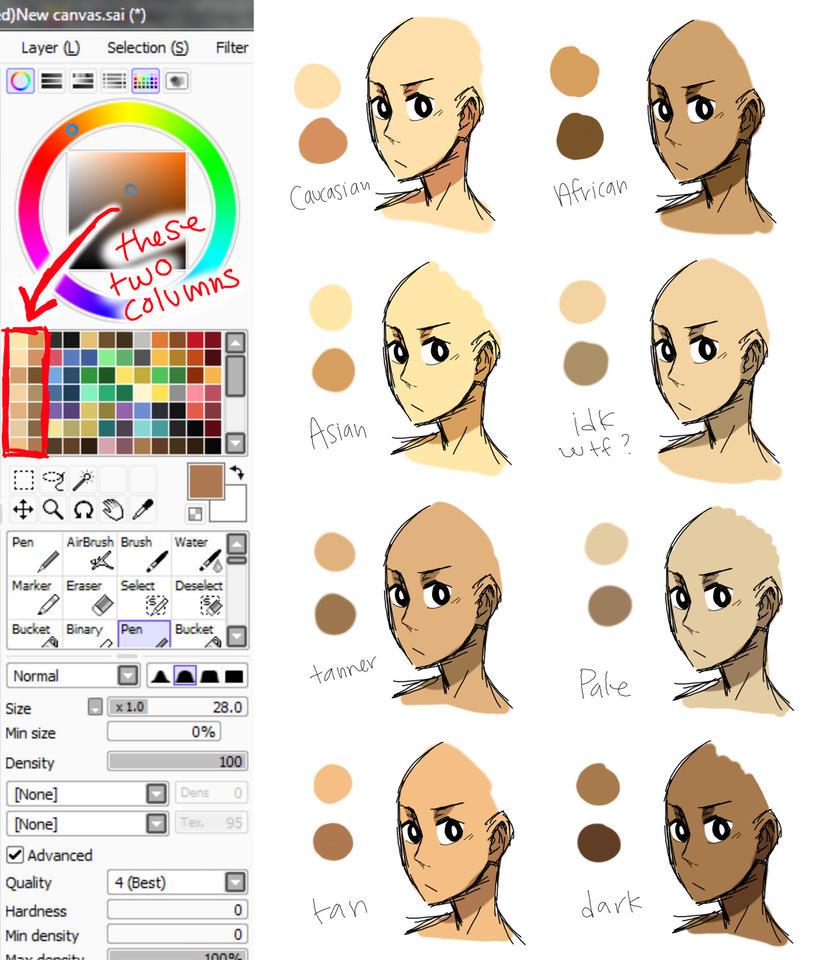 Skin Tones By Dirkajek144 On Deviantart