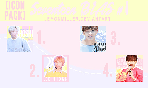 [Icon Pack] Seventeen #1 by LemonMiller