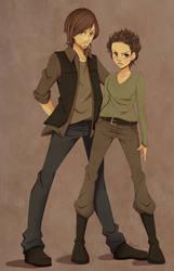 Daryl and Carol by SoWhyCantI