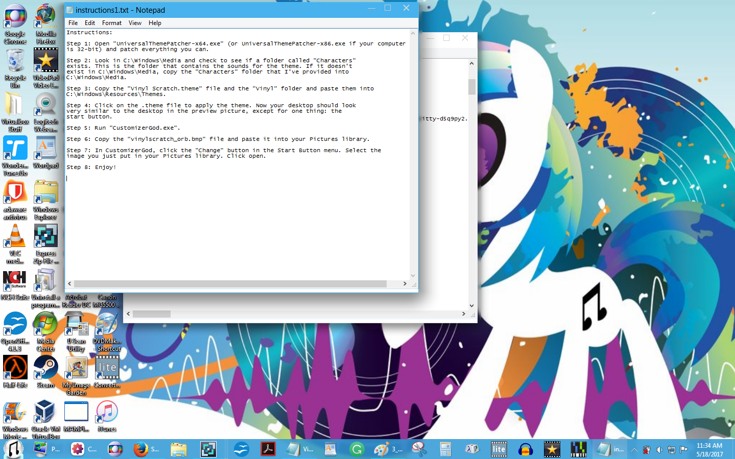 Vinyl Scratch Theme for Windows 7 (Read) by KD-32XS945 on