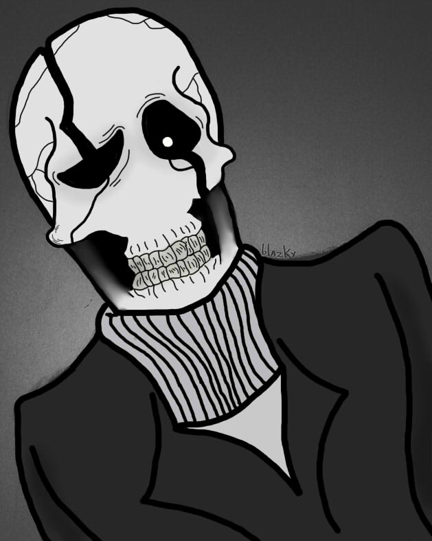 Dr W.D Gaster Undertale by Blazky