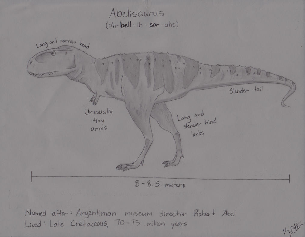 Dinosaurs A to Z: Abelisaurus by x-HuntersWolves-x