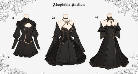 [CLOSED] Outfits Adoptable Batch | Auction by SophieAiden