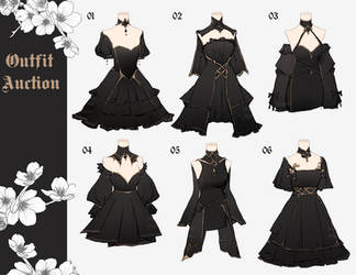 [CLOSED] Outfits Adoptable Batch   Auction by aimesora