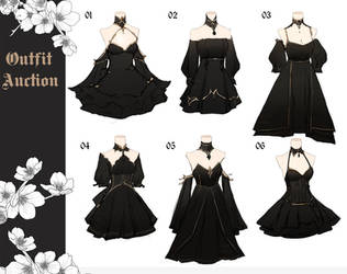 [CLOSED] Outfits Adoptable Batch | Auction by aimesora