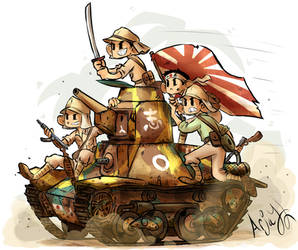 Japanese Type 95 Ha-Go by Arjay-the-Lionheart