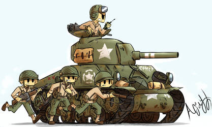 US M4 Sherman by Arjay-the-Lionheart