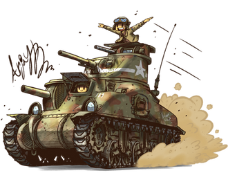 US M3A1 Lee by Arjay-the-Lionheart