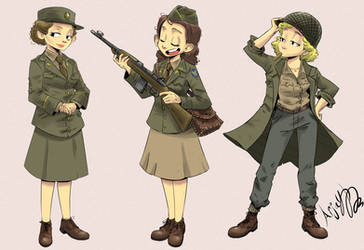 Women's Army Auxiliary Corps by Arjay-the-Lionheart