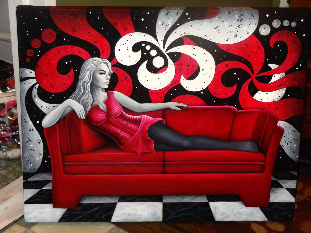 Red Sofa by Jack-ina-box