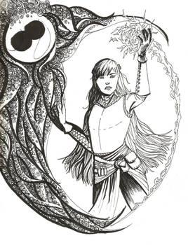 INKTOBER 1/31 - TES V: Dragonborn Mage, Maedhra