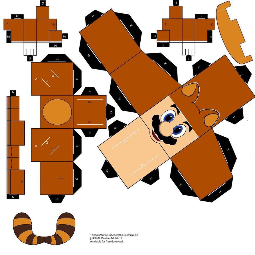 Tanooki Mario Papercraft Cubeecraft by jmk3482