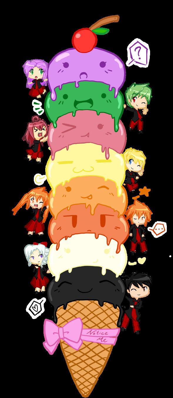 .. Stacks of Ice Cream .. by 0--Sakura--Dita--0