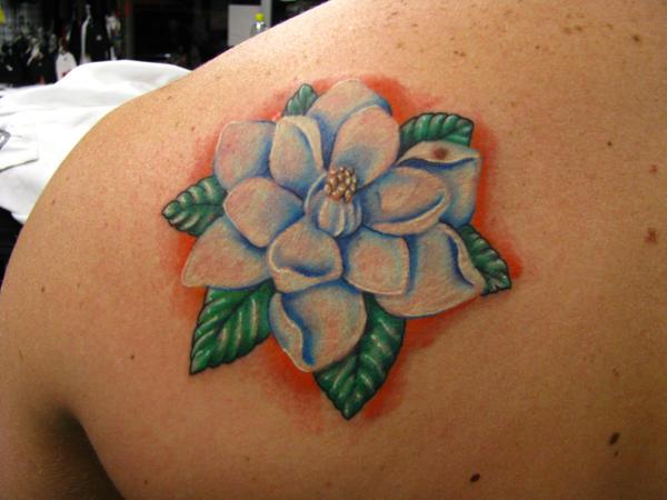 Magnolia - shoulder tattoo