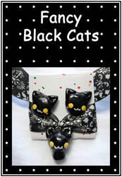 Fancy Black Cat by aruachan