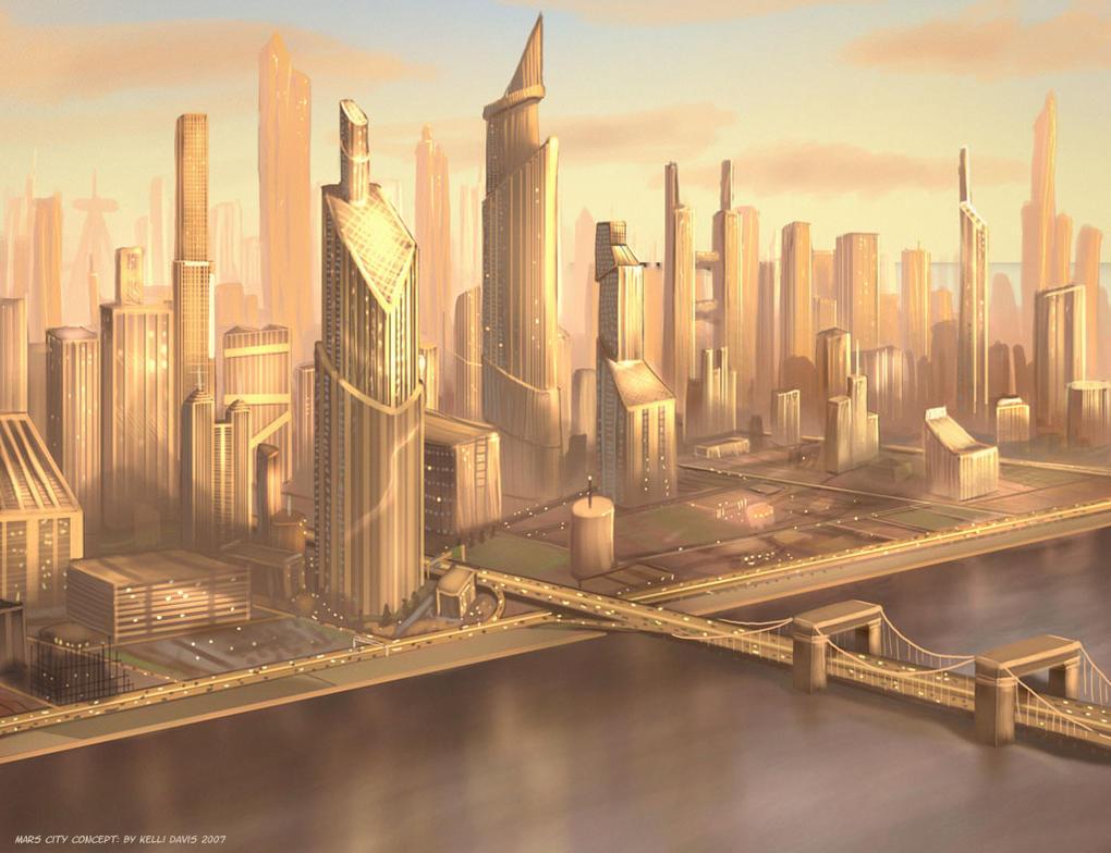 Mars City by Pinkuh