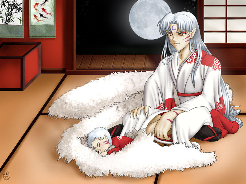 From present to past  - Page 25 Sesshomaru_and_haji_by_pinkuh