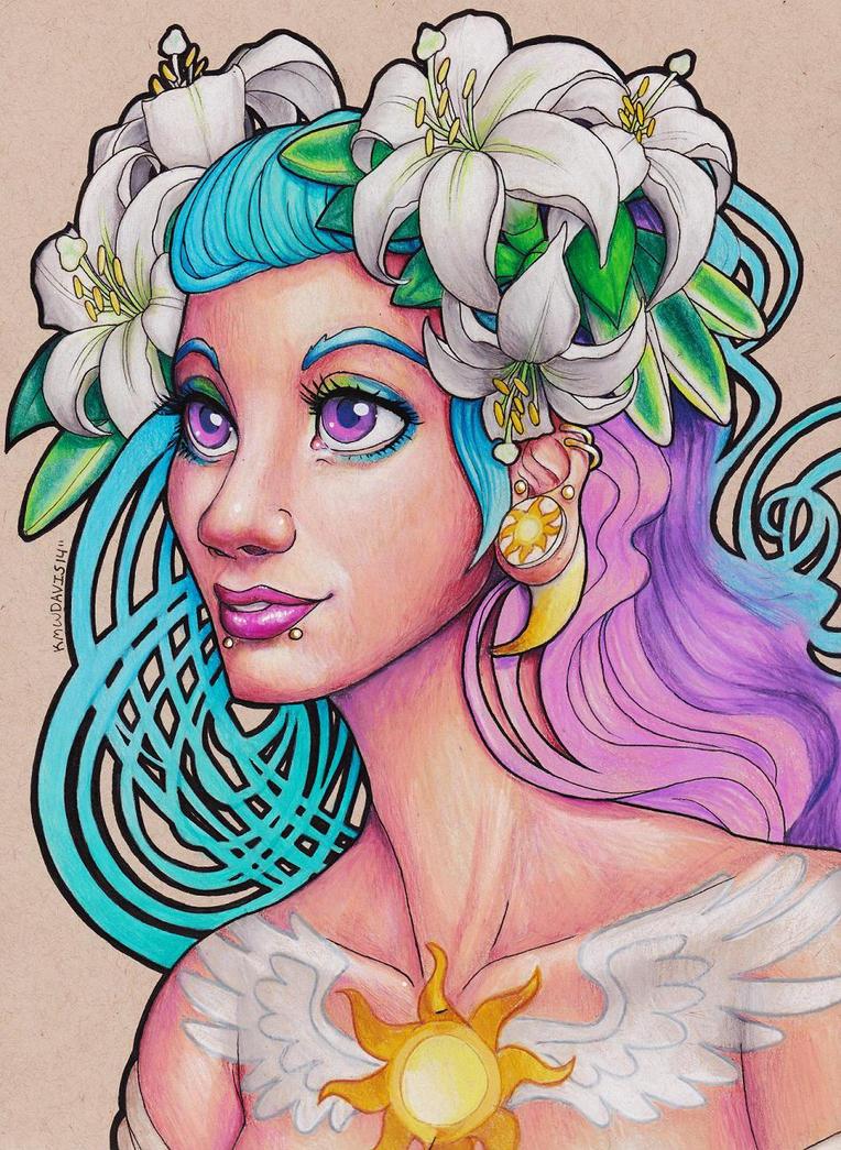 Punk Princess Celestia Human by Pinkuh