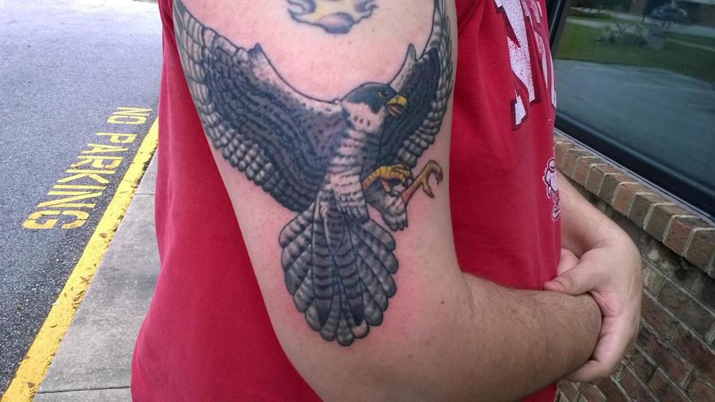 falcon tattoo! by Pinkuh