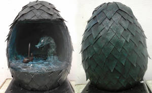 Dragon egg sculpture by Hamera