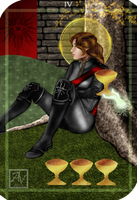 Tamsyn's Tarot Cards - Four of Cups by AuriV1