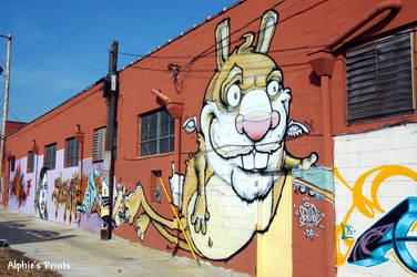 Graffiti on Wall by AlphieKC
