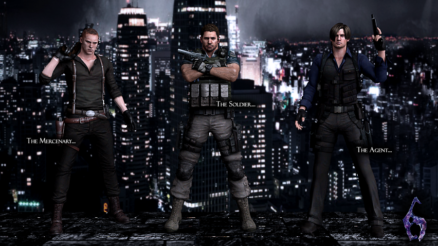 Resident evil 6 Heroes by ceriselightning