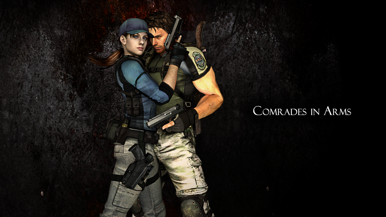 Chris Redfield and Jill Valentine by ceriselightning