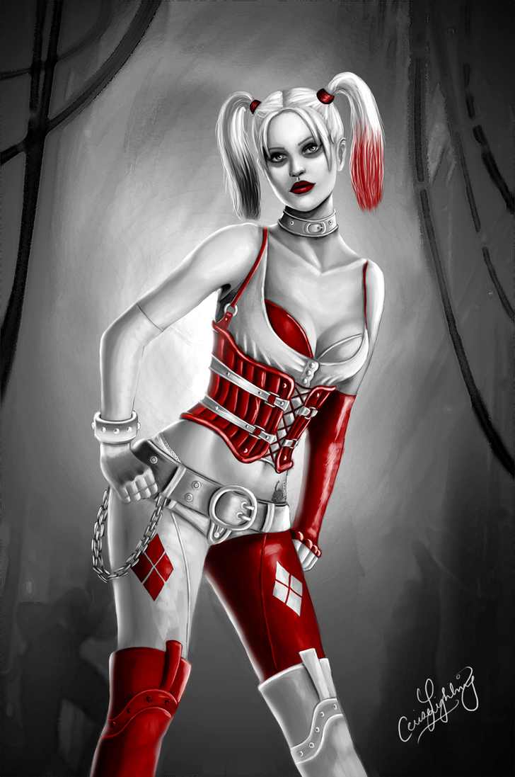 Batman Arkham City - Harley Quinn by ceriselightning
