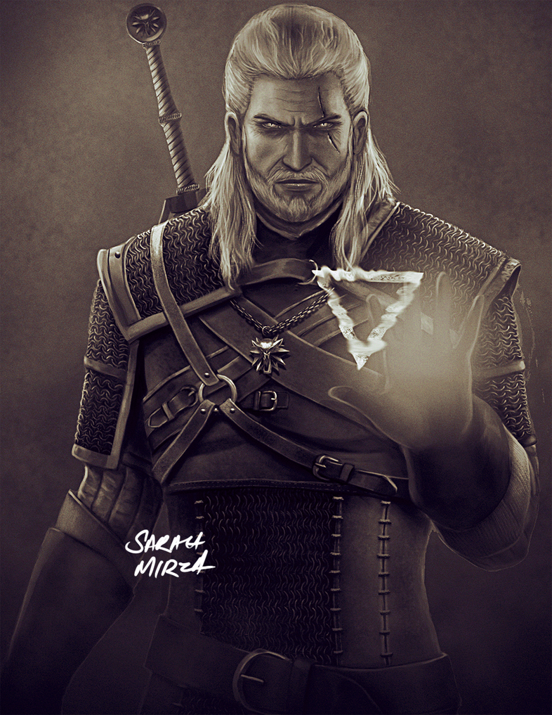 Geralt of Rivia by ceriselightning