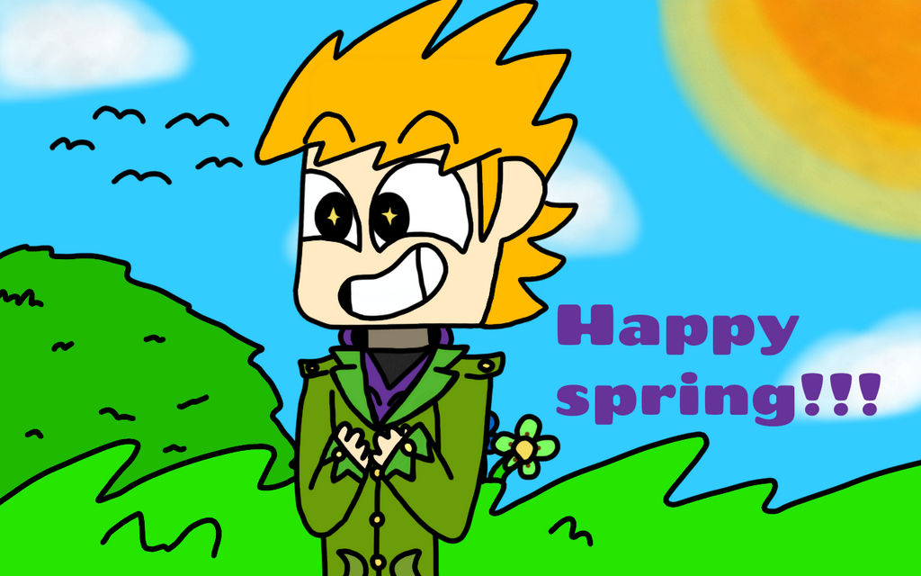 Happy spring from the ginger cinnamon roll by TheMostRandomFandomz