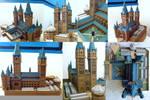 Hogwarts Castle paper model WIP 4