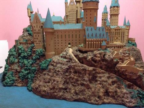 Hogwarts Castle Paper Model - East View
