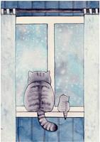 Cattober 22 (first snow) by Alliot-art