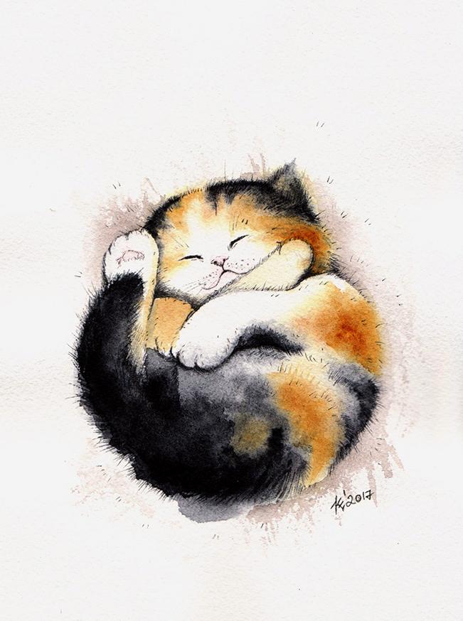 sleeping by Alliot-art