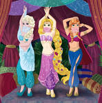 Princesses belly dancers