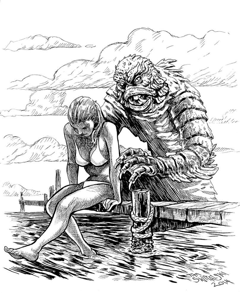 Creature From The Black Lagoon by timswit