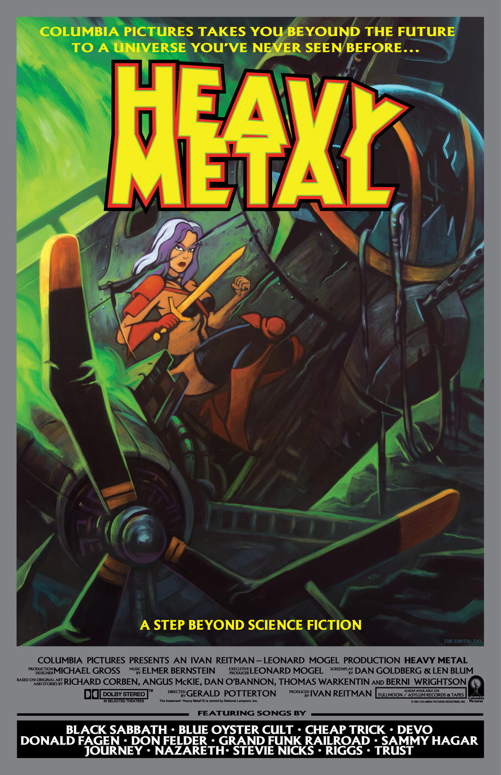 Heavy Metal movie poster by timswit